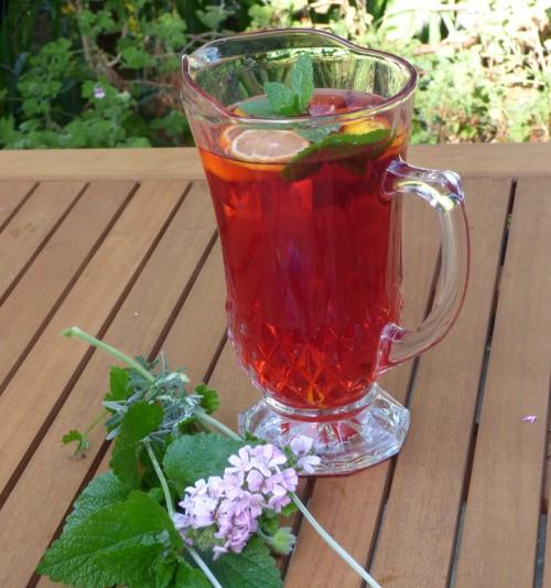 Rose Geranium, Lavender and Rosehip Summer drink